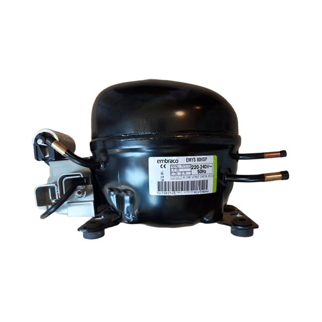کمپرسور 1/4 پوسته کوچک با خازن امبراکو مدل EMYS80HSP